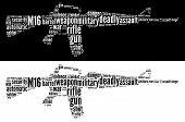 Gráficos de rifle M16
