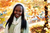 Young African American Woman Outside Smiling