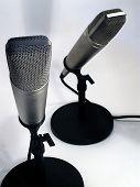 2 Broadcast Microphones