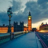 pic of westminster bridge  - Big Ben at night - JPG