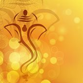 stock photo of ganapati  - Creative illustration of Hindu Lord Ganesha - JPG