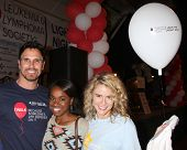 LOS ANGELES - OCT 6:  Don Diamont, Kristolyn Lloyd, Linsey Godfrey attend the Light The Night Walk a