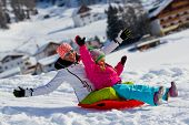 picture of snow-slide  - Winter - JPG