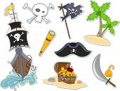 foto of skull crossbones flag  - Illustration of Pirate - JPG