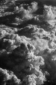 Formações de nuvens, vistas do avião