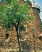 Stone Building With Tree poster