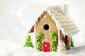 picture of gingerbread house  - Gingerbread house - JPG