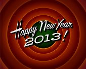 Movie ending screen - Happy New Year 2013 - Vector EPS10