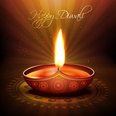 beautiful diwali diya vector background