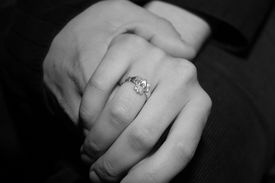 picture of claddagh  - Engagement of Love tied together with a Claddagh Ring - JPG