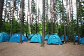 The image of a tourist camp