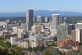 Portland Oregon Downtown Buildings.