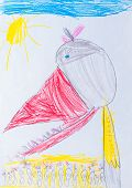 child's drawing pencil