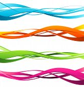 picture of wavy  - Vector illustration Set of wavy design elements - JPG