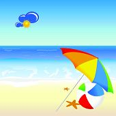 Beach  Cartoon  Vector Illustration