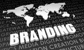 Branding Industry Global Standard on 3D Map poster
