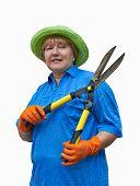 Senior Woman With Garden Shears