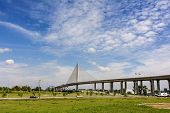 foto of skyway bridge  - A view of the Veterans - JPG