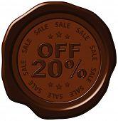 twenty percent discount on wax seal