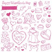 stock photo of camisole  - Valentine Doodles - JPG
