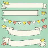 Horizontal Banners and Birds