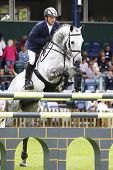 24/06/2011 HICKSTEAD ENGLAND, CENTRO ridden by Torben  K�?�?�?�¡hlbrandt (GER) competing in the
