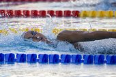 Jul 28 2009; Rome Italy;  Alessia Filippi (ITA) on her way to winning  the womens 1500m freestyle fi