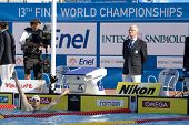 Jul 28 2009; Rome Italy; Paul Biedermann (GER) reacts after winning  the mens 200m freestyle final i