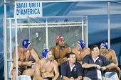 Jul 30 2009; Rome Italy; The USA team subs bench during the semi final match between USA and Spain, Spain won the match and progress to the final of the 13th Fina World Aquatics Championships