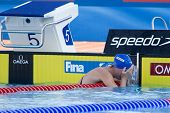 Jul 28 2009; Rome Italy; Gemma Spofforth (GBR) reacts after winning  the womens 100m backstroke fina