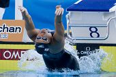 Jul 28 2009; Rome Italy; Hayley McGregor (USA) competing in the womens 100m backstroke final at the
