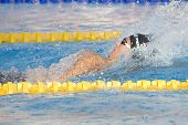 Jul 31 2009; Rome Italy; Aaron Piersol (USA) competing in the mens 200m backstroke final in a world