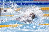 Jul 27 2009; Rome Italy; Matthew Grevers (USA) competing in the mens 100m backstroke at the 13th Fin