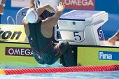 Jul 27 2009; Rome Italy; Matthew Grevers (USA)  competing in the mens 100m backstroke at the 13th Fi
