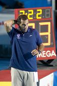 Jul 29 2009; Rome Italy; USA team head coach Adam Krikorian during the womens waterpolo semi final, at the 13th Fina World Aquatics Championships held in the The Foro Italico Swimming Complex.