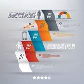 stock photo of step-ladder  - Step by step infographics illustration - JPG