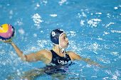 Jul 29 2009; Rome Italy; USA team player Elsie Windes competing in the womens waterpolo semi final match between USA and Greece, USA won the match 8-7, at the 13th Fina World Aquatics Championships