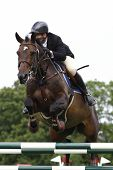 24/06/2011 HICKSTEAD ENGLAND, MURKAS MIDNIGHTLADY ridden by Nick  Charles (GBR) competing in the Hic