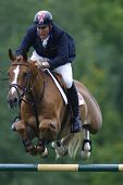 25/06/2011 HICKSTEAD Inglaterra, BILLY ANGELO montado por William Funnell (GBR) competindo, a Falcon