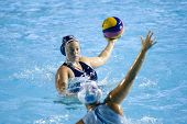 Jul 29 2009; Rome Italy; USA team player Brittany Hayes competing in the womens waterpolo semi final match between USA and Greece, USA won the match 8-7, at the 13th Fina World Aquatics Championships