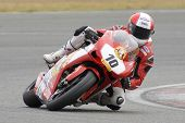 26 Sept 2009; Silverstone England: Rider number 10 Michael Rutter GBR riding for Bathams Ducati  dur