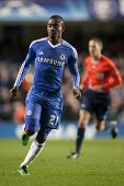 LONDON ENGLAND 23-11-2010. Chelsea's forward Salomon Kalou in action during the UEFA Champions Leagu