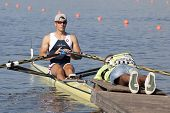 MONTEMOR-O-VELHO, PORTUGAL 10/09/2010. RABEL Christian (AUT) competing in the single sculls at  the