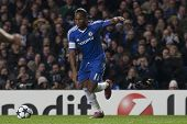 LONDON ENGLAND 23-11-2010. Chelsea's forward Didier Drogba in action during the UEFA Champions Leagu