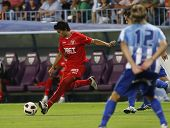MALAGA, SPAIN. 19/09/2010. Diego Perotti a Sevilla midfield player in action during the La Liga matc