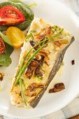 Organic Homemade Grilled Halibut Fish