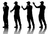foto of rap  - Vector drawing musicians style of rap - JPG