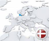 Denmark On Map Of Europe