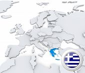 Greece On Map Of Europe