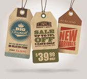 picture of reduce  - Vintage Style Sale Tags Design - JPG